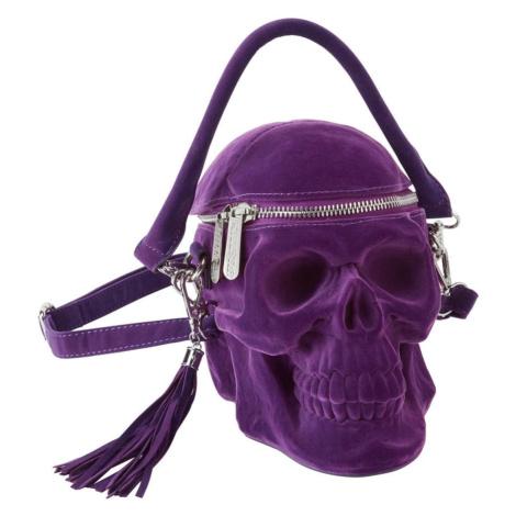 kabelka (taška) KILLSTAR - Grave Digger Skull - PLUM - KSRA001789