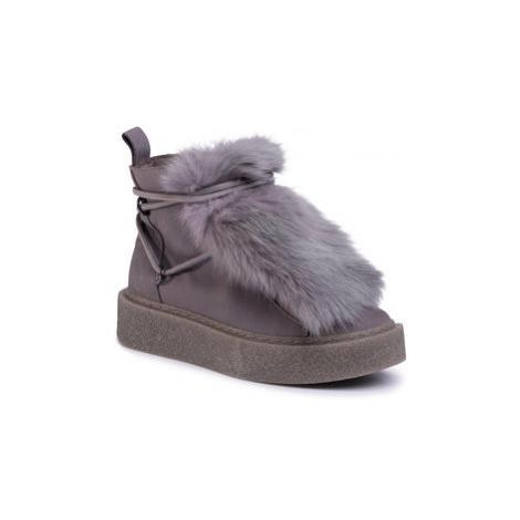 Gino Rossi Členková obuv Oda DTI115-284-0014-8500-F Sivá