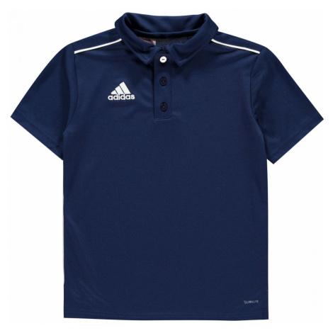Adidas Core Polo Shirt Junior Boys Dark Blue