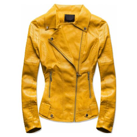 MODOVO Dámska koženková bunda žltá