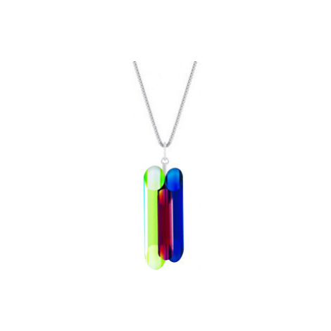 Preciosa Strieborný náhrdelník s kryštálmi Neon Collection by Veronica 70 (retiazka, prívesok)