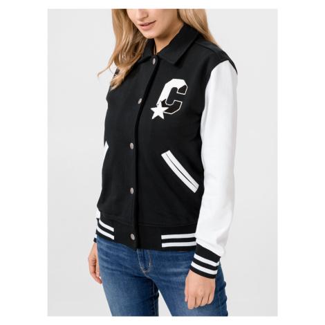 Bunda Converse Twisted Varsity Knit Jacket Čierna