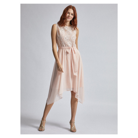 Svetloružové šaty s krajkou Billie & Blossom