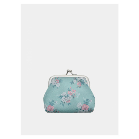 Modrá kvetovaná malá peňaženka Clayre & Eef