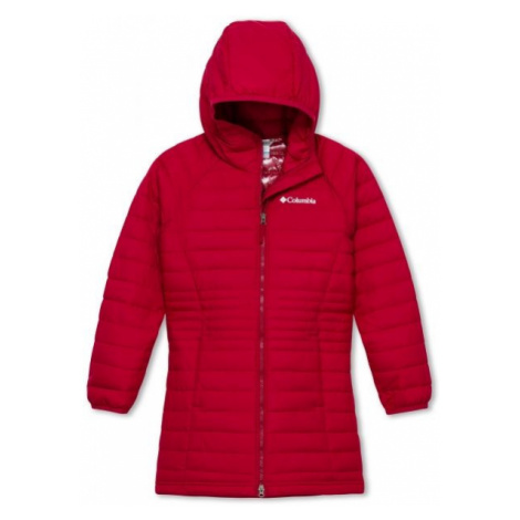 Columbia POWDER LITE GIRLS MID JACKET červená - Dievčenská bunda