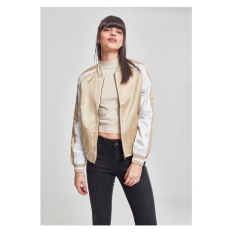 Urban Classics Ladies 3-Tone Souvenir Jacket gold/offwhite/gold - Veľkosť:M