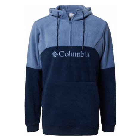 COLUMBIA Športový sveter 'Lodge II'  námornícka modrá / dymovo modrá