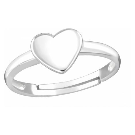 OLIVIE Detský strieborný prsteň SRDIEČKO 4407