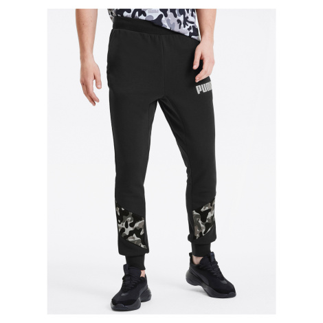 Tepláky Puma Rebel Camo Pants Cl Tr Čierna