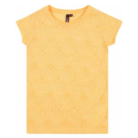 CMP Funkčné tričko  zlatá žltá / limetková