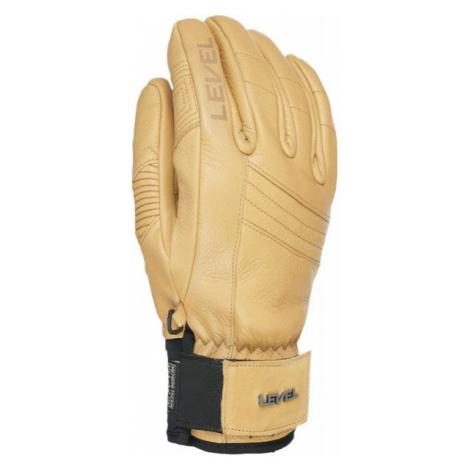 Level REXFORD béžová - Celokožené rukavice