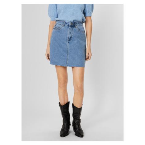 Vero Moda modrá džínsová sukňa Mikky