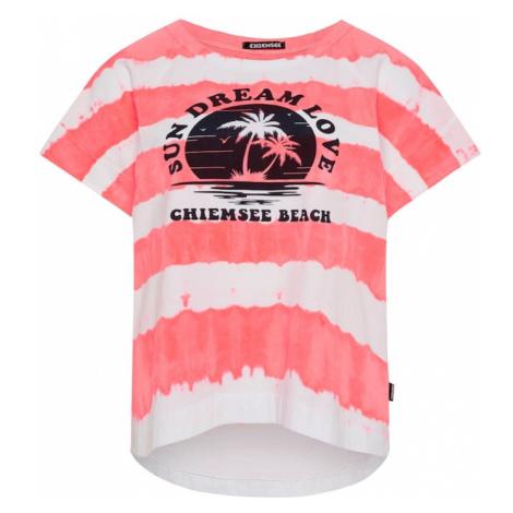 CHIEMSEE Tričko  ružová / biela