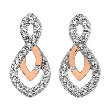 Hot Diamonds Trblietavé náušnice s pravým diamantom Lily RG DE608