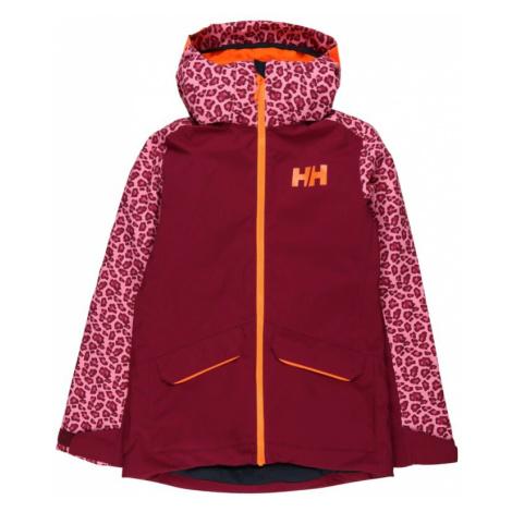 HELLY HANSEN Outdoorová bunda  fialová / krvavo červená / oranžová