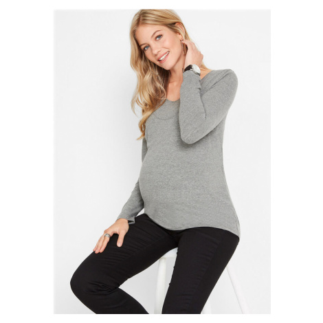 Materské tričko s funkciou na dojčenie, 2-dielne balenie z bio bavlny bonprix