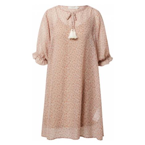 Cream Šaty 'Kinia'  koralová / biela / hnedá
