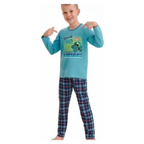 Chlapčenskú pyžamo Leo cross power modrej Taro