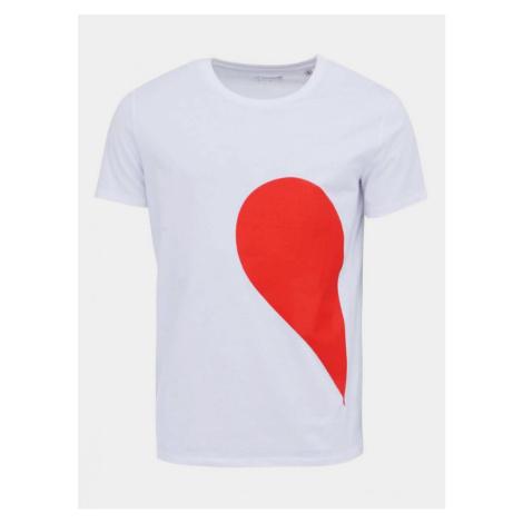 ZOOT Original White Men's T-Shirt ZOOT Original His Side Heart