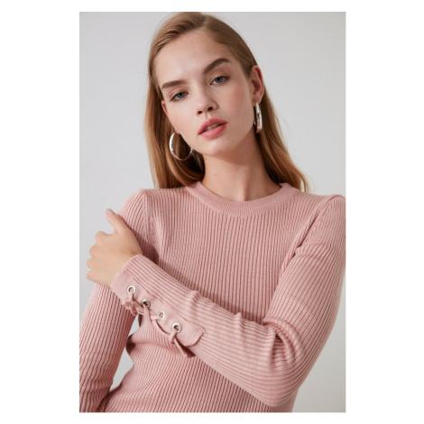 Dámsky sveter Trendyol Binding detailed
