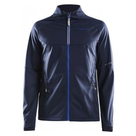 Craft WARM TRAIN tmavo modrá - Pánska softshellová bunda