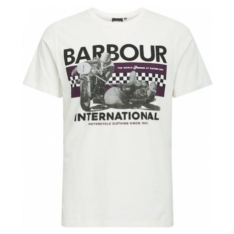 Barbour International Tričko 'Racer'  biela / antracitová