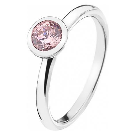 Hot Diamonds Strieborný prsteň Emozioni scintilla Pink Compassion ER017 mm