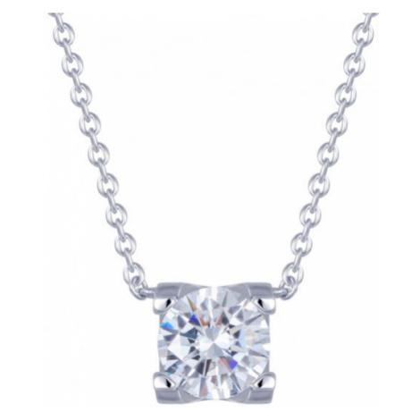 Preciosa Strieborný náhrdelník so zirkónom Elena 00