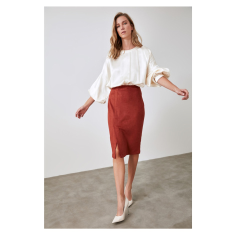 Trendyol Cinnamon Straight Cut Skirt