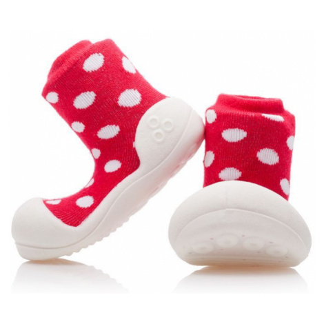 ATTIPAS Detské topánočky Polka Dot Red