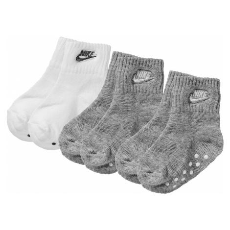 Nike Sportswear Ponožky  sivá / biela