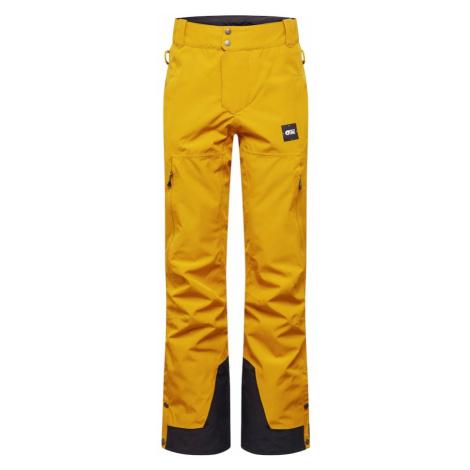 Picture Organic Clothing Športové nohavice  čierna / zlatá žltá