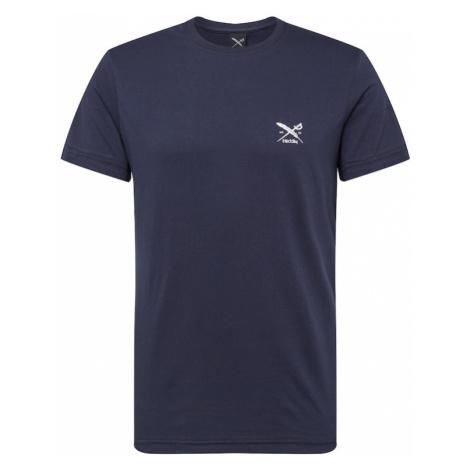 Iriedaily Tričko 'Chestflag'  námornícka modrá / biela