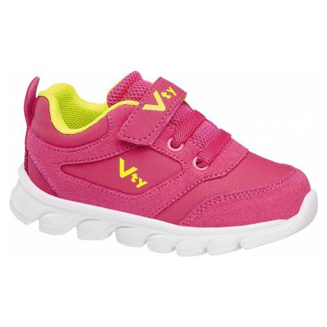 Vty - Ružové detské tenisky na suchý zips Vty