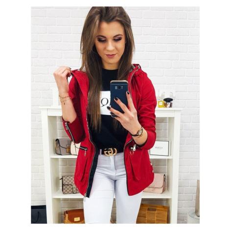 Pútavá dámska bunda - červená ty0569