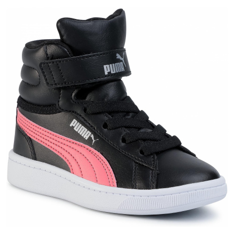 Sneakersy PUMA - Vikky v2 Mid Sl V Ps 370620 01 Black-C/Coral/Silver/White