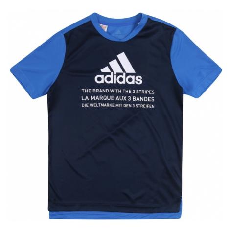 ADIDAS PERFORMANCE Funkčné tričko  modré / tmavomodrá / biela