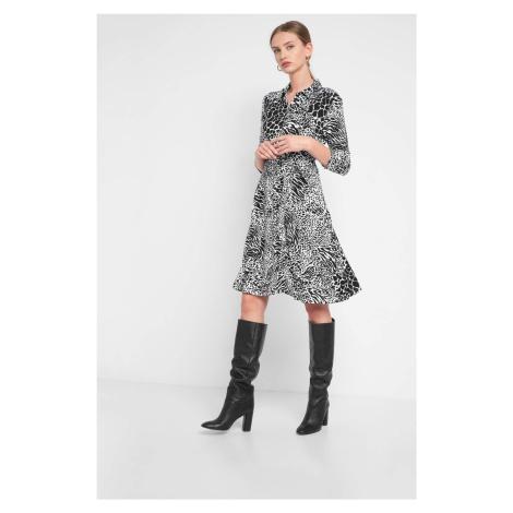 Vzorované, košeľové šaty Orsay