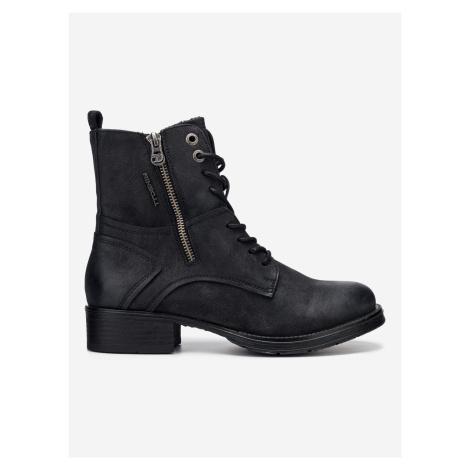 Kotníková obuv Tom Tailor Čierna