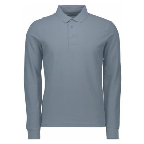 Pánske basic triko s dlhým rukávom Gentle šedé