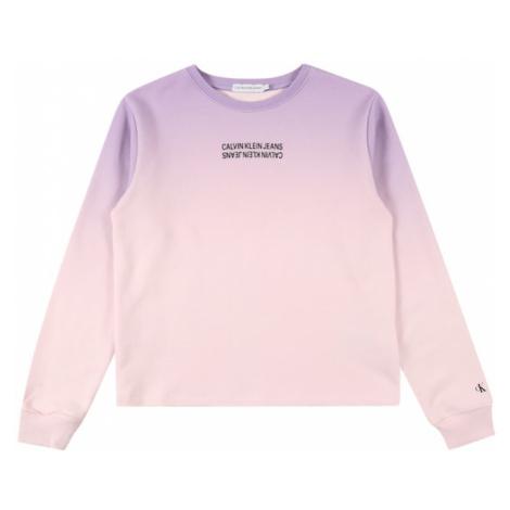 Calvin Klein Jeans Mikina  ružová / fialová