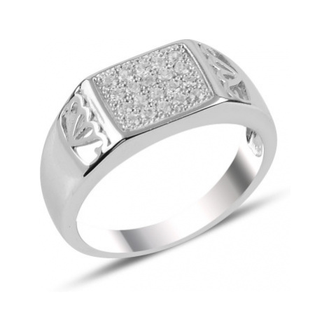 OLIVIE Pánsky strieborný prsteň 3729