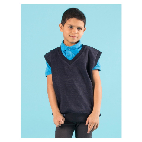 Boys´ navy blue sleeveless sweater