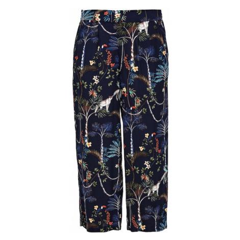 s.Oliver Plisované nohavice  modrá / zmiešané farby