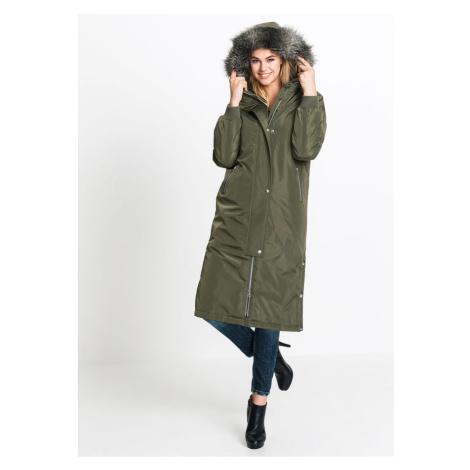 Kabát s kapucňou a bočnými spínacími gombičkami