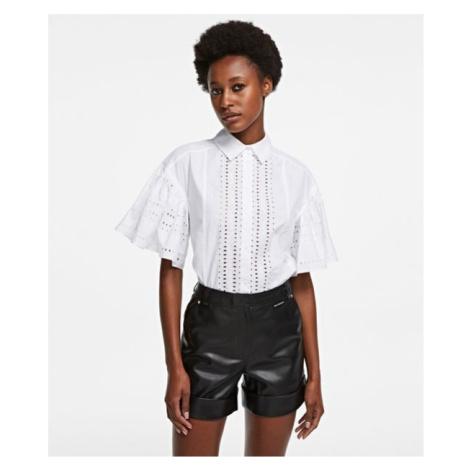 Košeľa Karl Lagerfeld Embroidered Poplin Shirt
