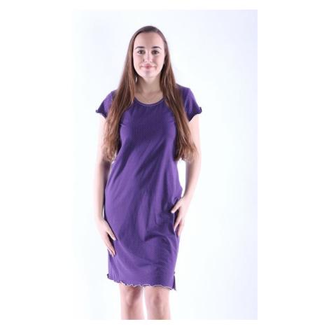 Dámska nočná košeľa Gabra fialová s bodkami Nelly