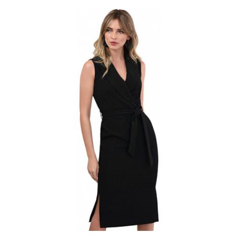Closet London Dámske šaty Closet Collared Pencil Dress Black