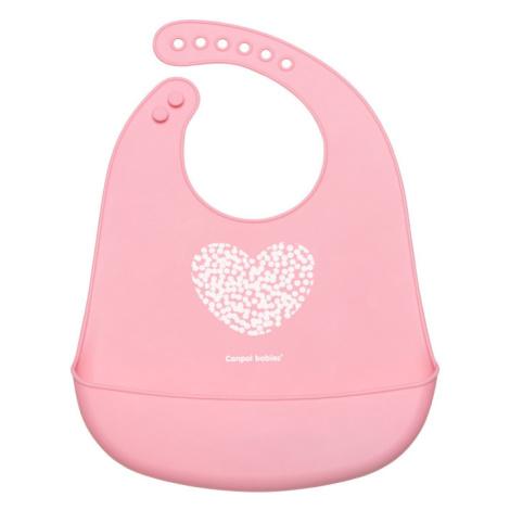 CANPOL BABIES Podbradník silikónový s vreckom Pastels ružový