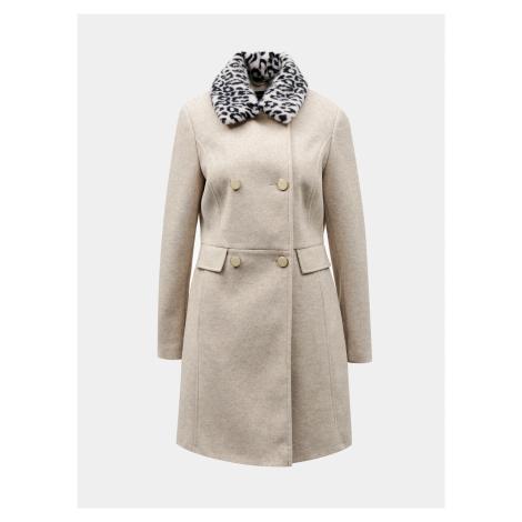Béžový zimný kabát Dorothy Perkins